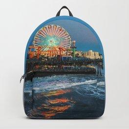 Wheel of Fortune - Santa Monica, California Backpack