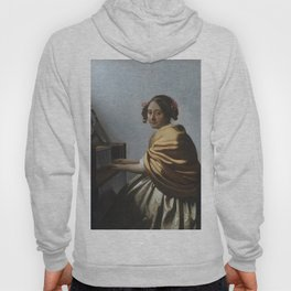"""Johannes Vermeer """"A Young Woman Seated at the Virginal"""" Hoody"""