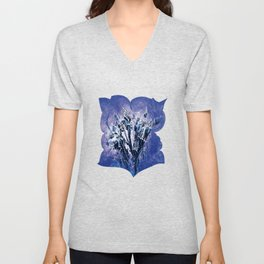 Thistle and Weeds_deep purple Unisex V-Neck
