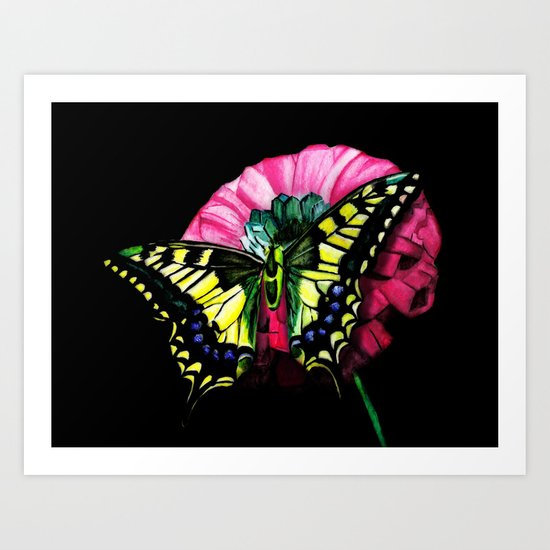 Watercolor Butterfly Art Print