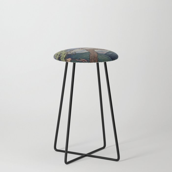 The Downwards Climbing Counter Stool
