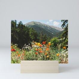 Mountain garden Mini Art Print