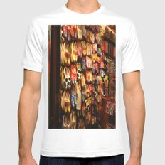 Knock On Wood...With Your Feet MEDIUM White Mens Fitted Tee