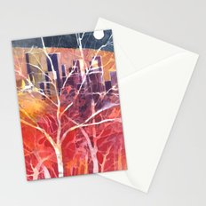 Towers between the trees Stationery Cards