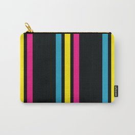 Stripes on Black Carry-All Pouch