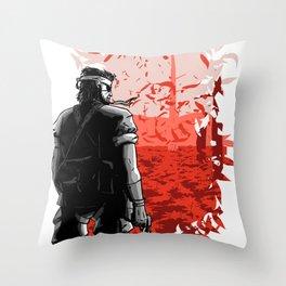 Big Boss (Red) Throw Pillow