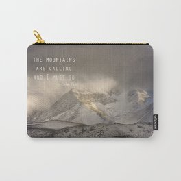 The Mountains are calling, and I must go.  John Muir. Vintage. Carry-All Pouch