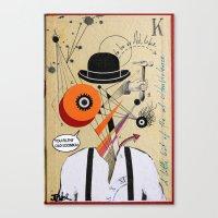 ultraviolence Canvas Prints featuring orange clockwork by LouiJoverArt