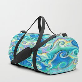 Seamless Wave Spiral Abstract Pattern Duffle Bag