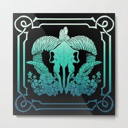 Negative blue Metal Print