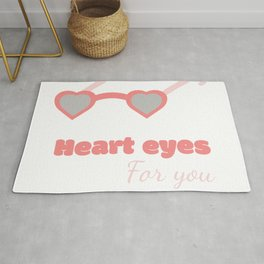 Heart eyes Rug