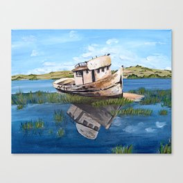 Point Reyes Boat Canvas Print