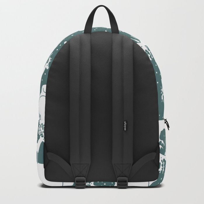 Polar gathering (emerald) Backpack
