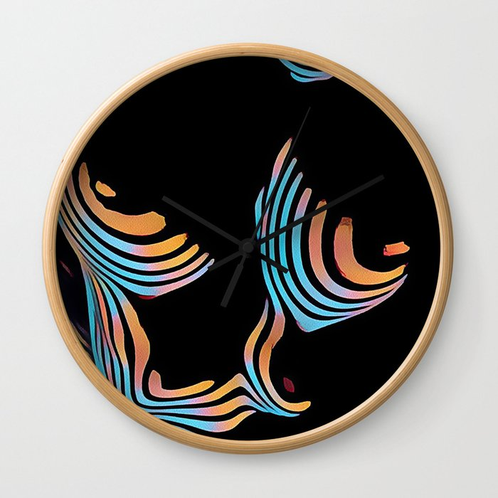 5126s-MAK Abstract Large Breasts Torso Composition Style Wall Clock