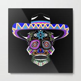 mariachi skull ecopop Metal Print