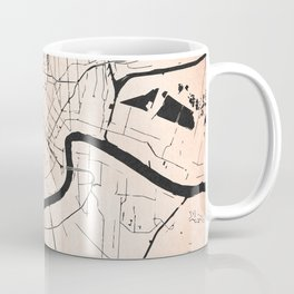 New Orleans Rose Gold and Black Map Coffee Mug