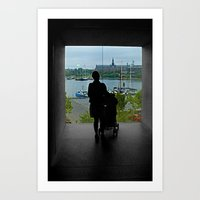 stockholm Art Prints featuring STOCKHOLM by Louisa Rogers