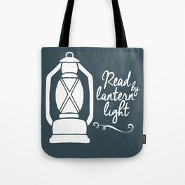 Read By Latern Light - Green Tote Bag