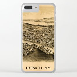 Map Of Catskill 1889 Clear iPhone Case