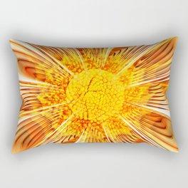 Summer Fractal Flower Rectangular Pillow