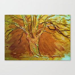 Burnished Birch Tree Canvas Print