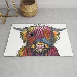 Scottish Highland Cow ' BRaVEHEaRT 2 ' by Shirley MacArthur Rug