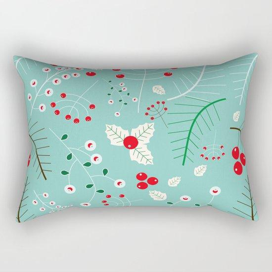 Mistletoe Acqua Rectangular Pillow