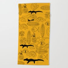 Crocodile Dream Beach Towel