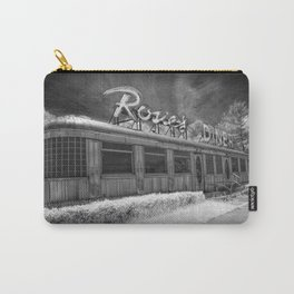 Rosie's Diner Photograph in Infrared Black & White by Rockford, Michigan Carry-All Pouch
