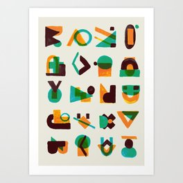 Shape of thoughts Art Print