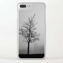 Foggy Silhouettes. Clear iPhone Case
