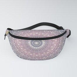 gray pink mandala Fanny Pack
