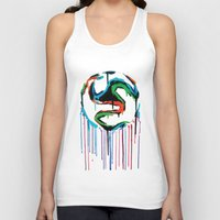 world cup Tank Tops featuring Bleed World Cup by DesignYourLife