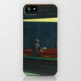 NIGHTHAWKS - EDWARD HOPPER iPhone Case