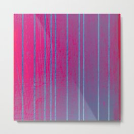 Iridescent Stripes Metal Print