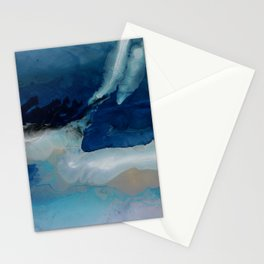 DEEP - Ocean art Resin painting, abstract seascape, coastal painting Stationery Cards