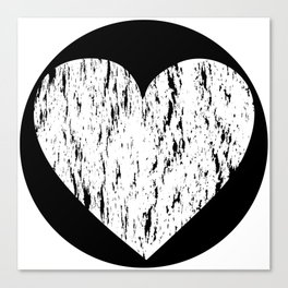 ghost paint heart Canvas Print