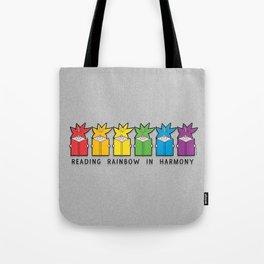 Reading Rainbow in Harmony Tote Bag