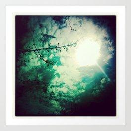 afternoon skies Art Print