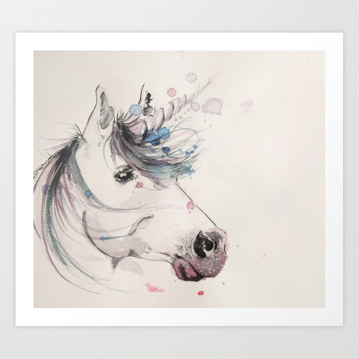 Unicorn 2 Art Print