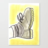 shoe Canvas Prints featuring shoe by yayanastasia