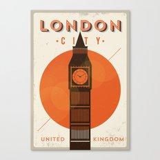Vintage London Big Ben Poster Canvas Print