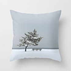 Lonesome Winter Throw Pillow