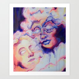 Head in the Clouds - Original Acrylic Painting Art Print