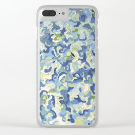 Water Play in Green Clear iPhone Case
