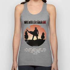 You'll never leave Harlan alive Unisex Tank Top
