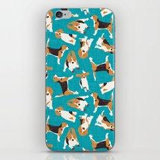 beagle scatter blue iPhone & iPod Skin