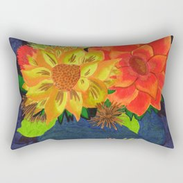 Sunflower Still Life Rectangular Pillow