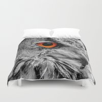 andreas preis Duvet Covers featuring ORANGE OF MY EYE by Catspaws