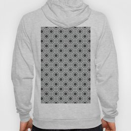 Abstract black and grey floral pattern Hoody